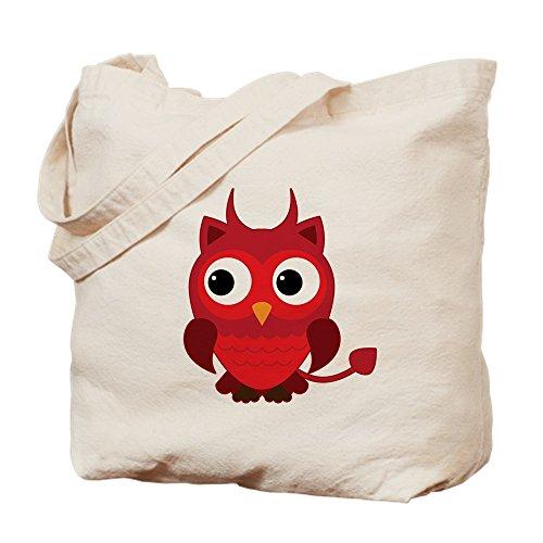 Truly Teague Tote Bag Little Spooky Owl Devil (Baphomet Horns Costume)