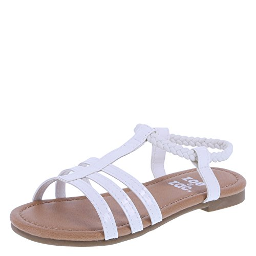 Little Girls Sandals (Zoe and Zac Girl's White Bellah Sandal Little Kid Size 11 Regular)