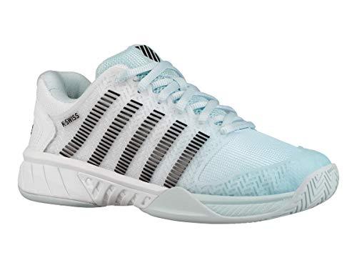 K-Swiss Women`s Hypercourt Express Tennis Shoes Pastel Blue and Black (7) ()