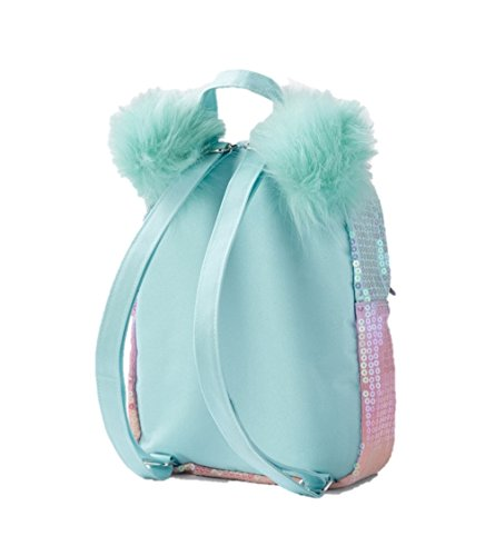 9cf0c4cc3f00 Justice Girls Ombre Initial Mini Pom Pom Backpack