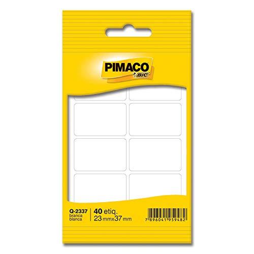 Etiqueta adesiva branca multiuso 23x37mm Q-2337 Pimaco, BIC, 886583, Branca, pacote de 5