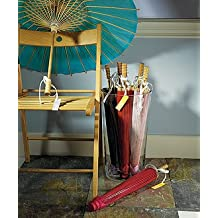 Wedding Star 9167-07 Paper Parasol with Bamboo Boning- Red