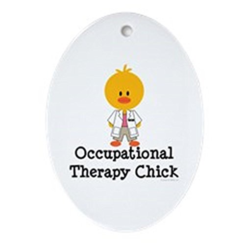 CafePress Occupational Therapy Chick Oval Ornament Oval Holiday Christmas Ornament (Ornaments Christmas Occupational)