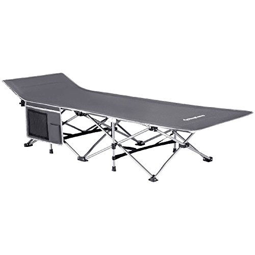 KingCamp Strong Stable Folding Camping Bed Cot with Carry Ba