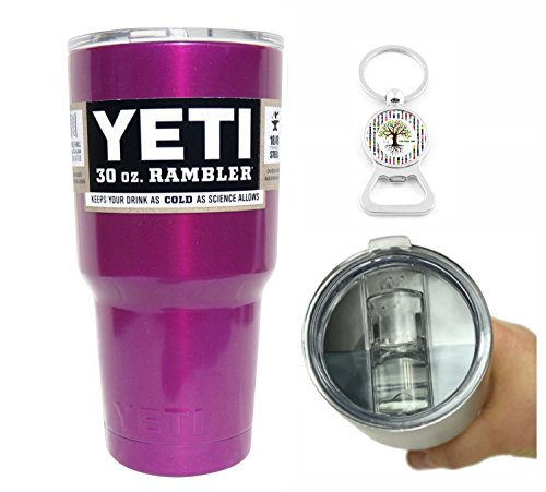 YETI Coolers 30 Ounce (30oz) (30 oz) Custom Rambler Tumbler Cup Mug with Exclusive Spill Resistant Lid (Lavender Pink Shimmer)