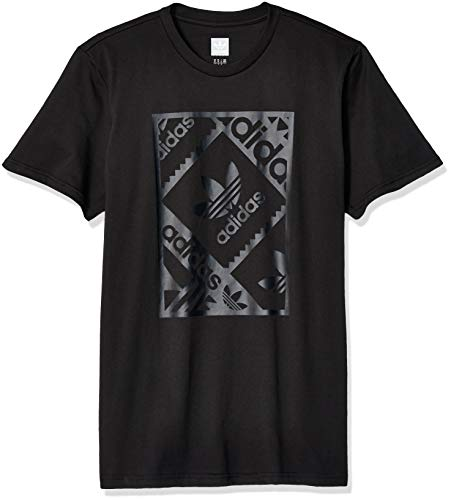 (adidas Originals Men's Stamp Tee, Black/Carbon, Medium)