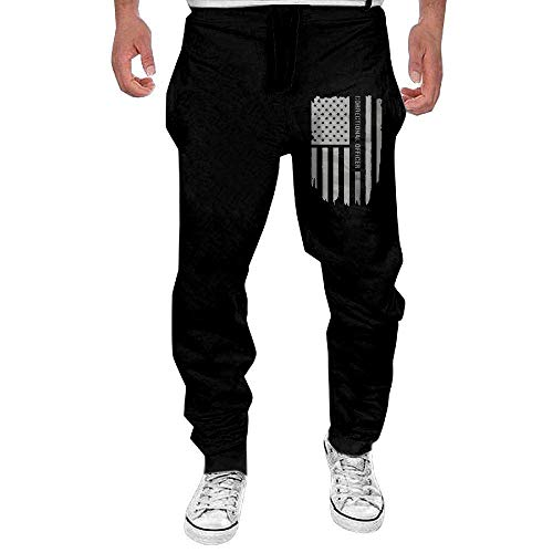 Lalae-ltd Mens Fashion Sweatpants Print Thin Silver Line Correctional ()