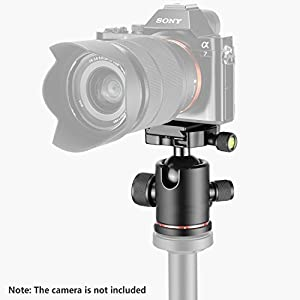 "Fotga Metal 360 Degree Swivel Camera Tripod Ball Head Ballhead with 1/4"" Screw Quick Release Plate for Dslr Camera Camcoder Video from Fotga"