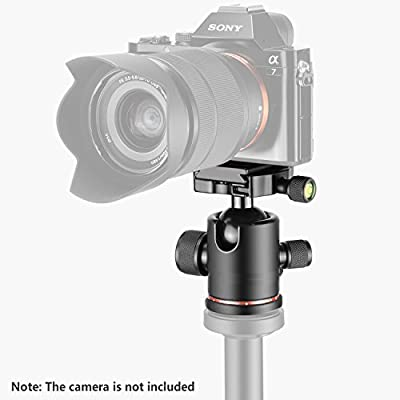 "Fotga Metal 360 Degree Swivel Camera Tripod Ball Head Ballhead with 1/4"" Screw Quick Release Plate for Dslr Camera Camcoder Video by Fotga"