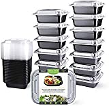Teivio 40 Pack of 12OZ SMALL meal prep containers - Mini Food Storage Bento Box - BPA-free - Reusable, Washable, Microwavable Healthy Food Containers with Lids