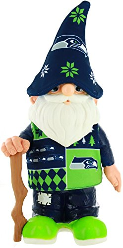 NFL Seattle Seahawks Real Ugly Sweater Gnome - Busy Block, Green