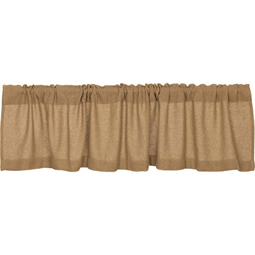 Used, Lasting Impressions Burlap Natural Cotton Window Valance, for sale  Delivered anywhere in USA