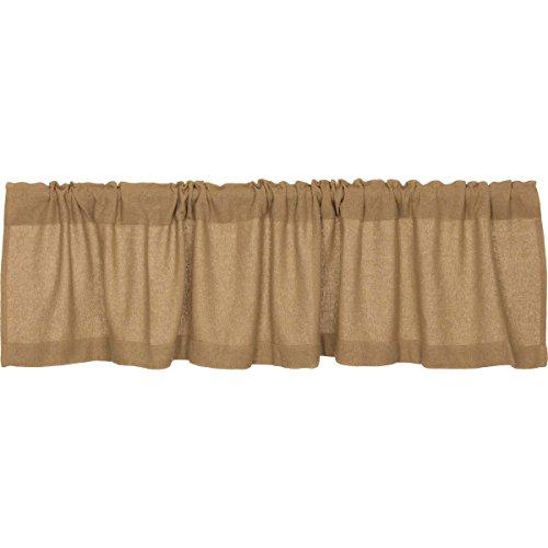 Lasting Impressions Burlap Natural Cotton Window Valance, -