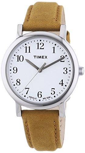 Timex-Analog-quartz-Wristwatch-Leather
