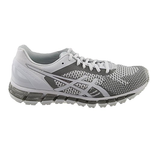 ASICS Womens Gel-Quantum 360 cm Running Shoe White/Snow/Silver gwzj03c0