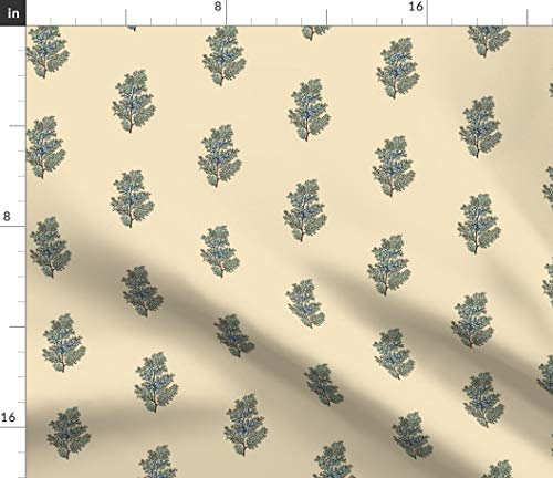 Spoonflower Cedar Fabric - Pine Mountain Lodge Adirondack Lake Cabin Print on Fabric by The Yard - Organic Cotton Knit for Baby Blankets Clothing Apparel T-Shirts ()