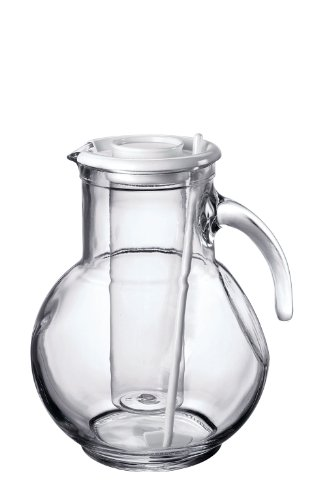Bormioli Rocco Kufra Jug with Ice Container and White Lid, 72-3/4-Ounce