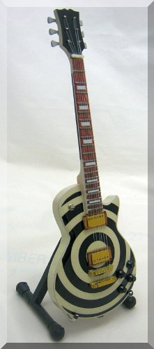 - ZAKK WYLDE Miniature Mini Guitar Bullseye Les Paul