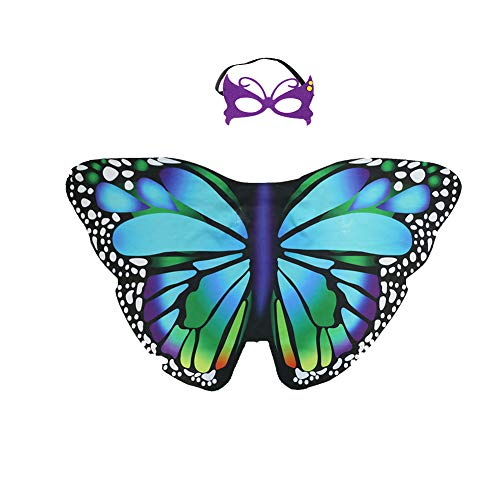 MOLECOLE Kids Butterfly Wings Costume for Girls Fancy Dress up Pretend Play Garden or Birthday Party Favors (Purple) (The Best Girl Games Ever Dress Up)