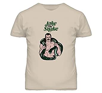 Jake The Snake Roberts 80s Wrestling T Shirt S Tan
