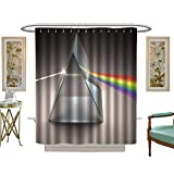 luvoluxhome Shower Curtains 3D Digital Printing Crystal Prism Bathroom Set with Hooks W72 x L84