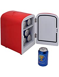 Portable Mini Fridge Cooler and Warmer Auto Car Boat Home Office AC & DC Red - By Choice Products