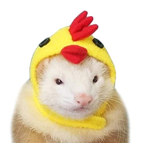 Dwarf Hamster Halloween Costumes (Alfie Pet - Layla Chicken Hat for Party Halloween Special Events Costume for Mouse, Chinchilla, Rat, Gerbil and Dwarf)