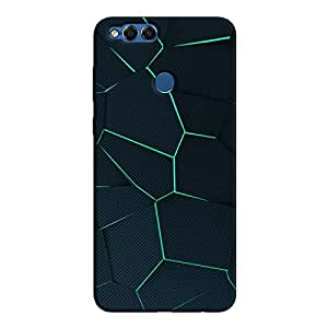Cover It Up - Cyan Fractures Honor 7x Hard case