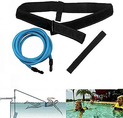 Queta Cinturón de Entrenamiento de natación Cuerda Piscina Nadar Adjustable Cinturón de Resistencia Estacionario para Natación