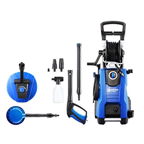 Nilfisk E 145 bar Pressure Washer with Patio Cleaning Kit (2100w Induction...