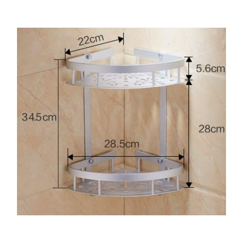Thickened bathroom double Tripod/Bathroom racks/ space aluminum wall hanging basket triangle-H cheap