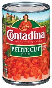 Contadina Roma Style Petite Cut Diced Tomatoes 14.5 oz (Pack of 12)