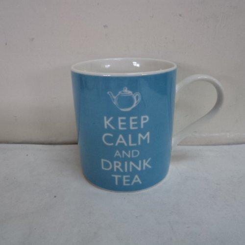 Keep Calm Drink Tea Blue product image