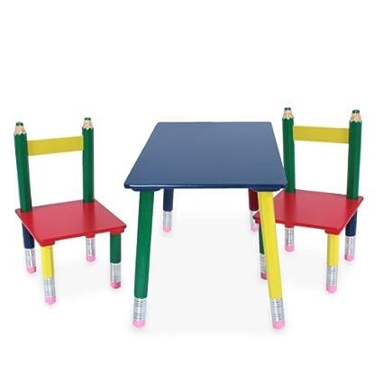 gruppo tavolo per bambini di alta qualità sedia in legno massello ...