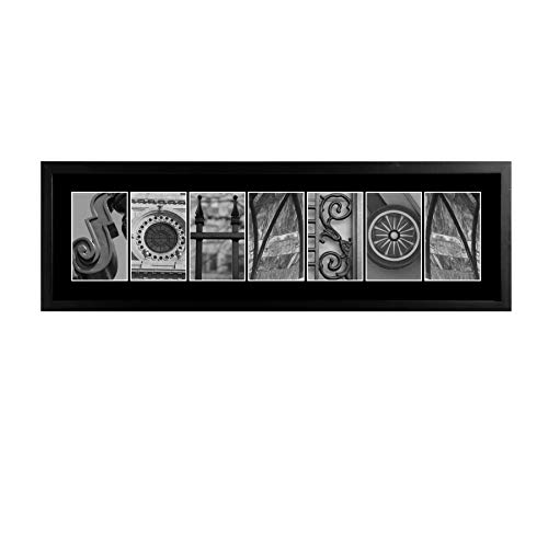 Personalized Black & White Architectural Name Frame ()