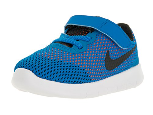 Nike Free Rn (Tdv), Zapatos de Primeros Pasos para Bebés Azul (Azul (Photo Blue / Black-Ttl Orng-Wht))