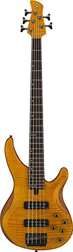 Guitar Maple 5 String Bass (Yamaha TRBX605 5-String Flamed Maple Bass Guitar, Matte Amber)