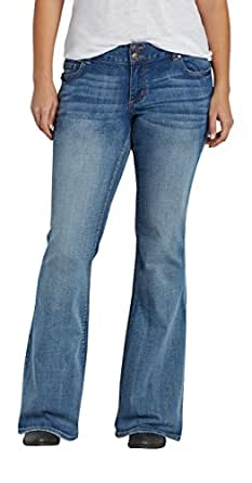 Maurices Women's Plus Size Kaylee Flare Jeans In Medium Wash 20 Medium Sandblast