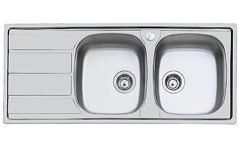 Foster S1000 Lavello Metallo Spazzolato 116x50x17 cm:  ...
