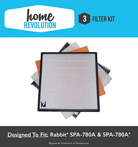 3 Rabbit Air Home Revolution Brand Replacement Air Minus A2 Filter Kit; Fits SPA-780A & SPA-780A