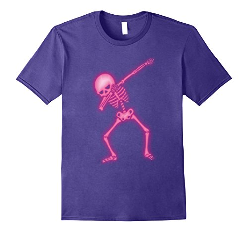Mens Dabbing Skeleton Faux Pink Glow Halloween Costume Shirt Small (Medical Halloween Costume Ideas)