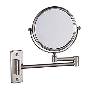 Vanity mirrors beauty mirror brushed nickel Bathroom wall mirrors brushed nickel