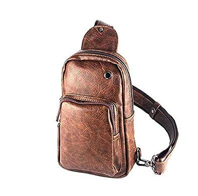 Amazon.com: Xiao. P Retro PU piel Hombres bolsas de los ...