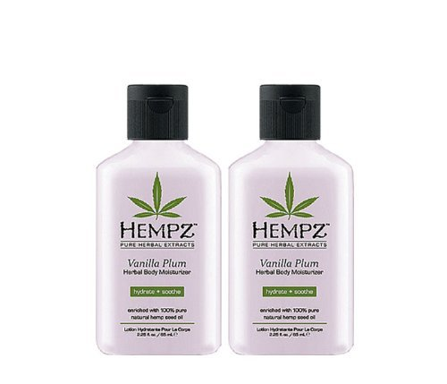 Hempz Vanilla Plum Herbal Mosturizer 2.25oz Pack of 2 - New