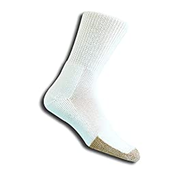 Thorlo Men's Tennis Crew Sock, White/Black, X-Large