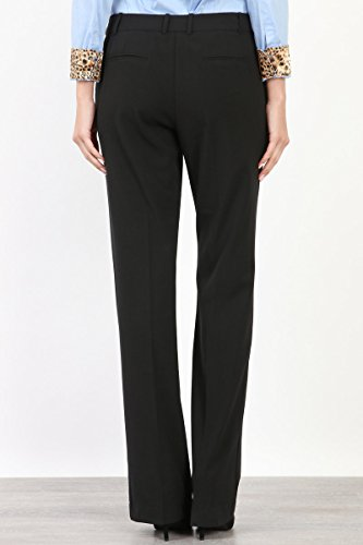 Maryclan Career Women's Dress Pants Little Boot Cut With Double Button Tab Detail (Large, Black) by Maryclan (Image #4)