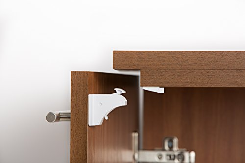 Gotem Magnetic Baby Safety Locks for Cabinets and Drawers - Easy 3M Tape Installation, No Tools needed - 4 Locks + 1 Key, Perfect for Babies and Children Protection