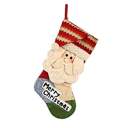 HUBINGRONG Decoraciones de Navidad Santa muñeco de Nieve Calcetines ...