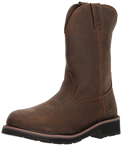 Wolverine Men's Ranchero Soft-Toe Wellington Construction Boot, Summer Brown, 9 M US by Wolverine