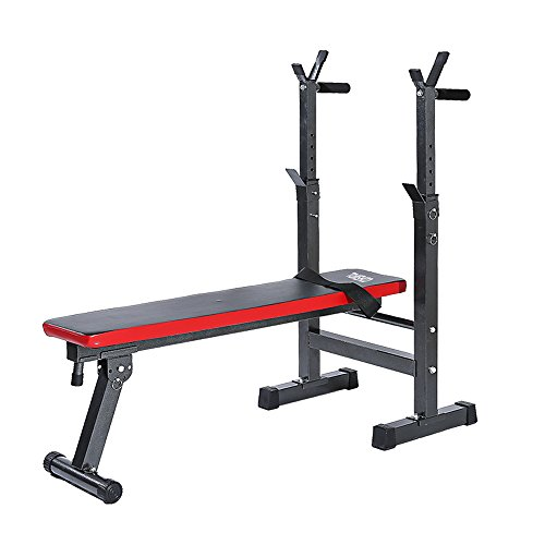 TOMSHOO Adjustable Olympic Weight Bench Foldable Abdominal AB Lifting Gym Bench